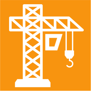 Icon for construction services.
