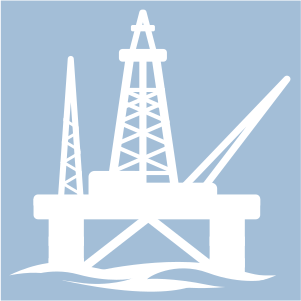 Icon for oil and gas services.